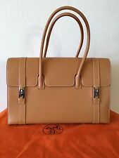 Authentic Hermes Drag 37 Vache Natural Leather Palladium Hardware