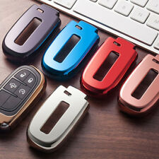 For Dodge Charger Challenger Jeep Chrysler 1pc TPU Key Fob Soft Cover Shell Case