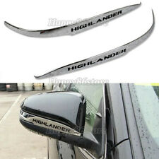 Fit Toyota Highlander 2015-2019 Chrome ABS Rear View Mirror Guard Cover Trim