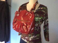 INNUE red LEATHER shoulder BAG satchel TOTE NICE Cond'n litely worn