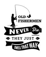 Old Fishermen logo vinyl decal  sticker lines / lures / Angling decal tackle box
