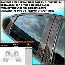 FITS ACURA ILX 2013-19 REAL BLACK CARBON FIBER WINDOW PILLAR POSTS - 6 PCS