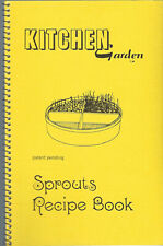 KITCHEN GARDEN SPROUTS RECIPE COOK BOOK 1972 GOURMET SUGGESTIONS FROM THE GARDEN