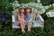 Miniature Dollhouse FAIRY GARDEN - Fairy Friends - (No Bench) - Accessories