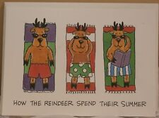 Holiday Fun Seasonal Card Reindeer Summer Funny Christmas Greeting