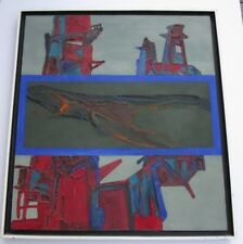 LARGE VINTAGE PAINTING ABSTRACT EXPRESSIONISM INDUSTRIAL? NON OBJECTIVE RUSSIAN?