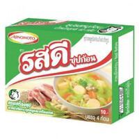 Rosdee Ajinomoto Real Pork Bone Soup Stock Cube Thai Seasoning Cooking 4 cubes