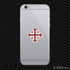 Jerusalem Cross Cell Phone Sticker Mobile Die Cut christian religious