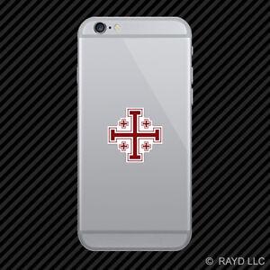 Jerusalem Cross Cell Phone Sticker Mobile Die Cut christian religious