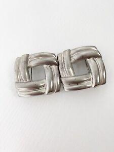 Doreen Ryan Geometric Square Knot Belt Buckle Silver