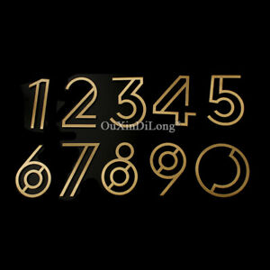 1PCS Pure Brass House Number Address Digit 0~9 Home Hotel House Signs Decoration