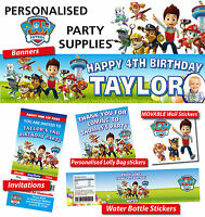 Personalised Paw Patrol Birthday Party Banner Decorations
