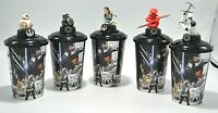 5 Star Wars 2017 The Last Jedi Topper Movie 12oz Theater Cups Collectible NEW