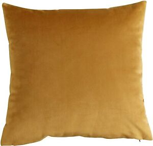 """SET OF 2 ANTIQUE AUTUMN GOLD SMOOTH OPULENCE  VELVET 18"""" CUSHIONS FILLED £17.99"""