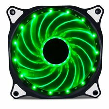 120mm LED Neon GREEN Computer PC Case Cooling Fan Sleeve Bearing By Vetroo