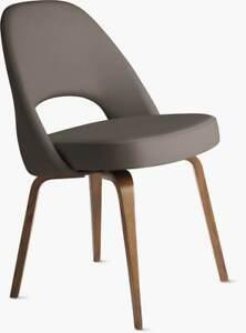 Authentic Knoll® Saarinen Executive Side Chair Wood Legs  DWR