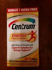 Centrum Energy Multivitamin Supplement  06/2020 37 Count~Free Shipping