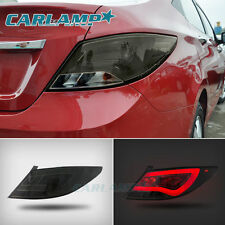 Smoked Black LED Tail Lights For Hyundai Accent 2012-2017 Rear Lamps Set(2)