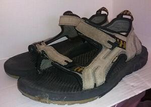 Teva Men's Size 13 Suede Leather Adjustable Strap Sport Hiking Sandals 6674