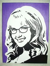 Canvas Painting The Big Bang Theory Bernadette Purple Art 16x12 inch Acrylic