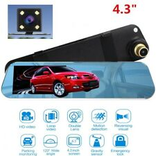 Car DVR Cam Rearview Mirror Camera Dash Cam Recorder G-Sensor Night Vision