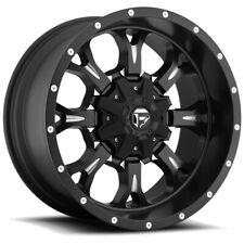 """Fuel D517 Krank 20x9 6x135/6x5.5"""" +1mm Black/Milled Wheel Rim 20"""" Inch"""