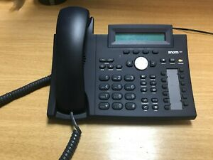 Snom 320 VoIP Phone, black with power supply. Also supports Power over ethernet