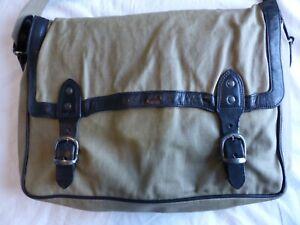 Dries van Noten men's bag beige coated canvas satchel