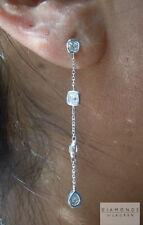 1.39ctw Colorless Diamond Dangle Earrings R5872 Diamonds by Lauren