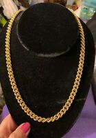 Monet Heavy Gold Rolo Chain Necklace 24""