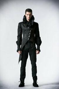 Asymmetrische Gothic Herrenweste rot-schwarz Waistcoat von Punk Rave