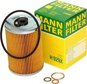 Mann-filter Oil Filter H929x fits MERCEDES-BENZ SL C107 450 SLC (107.024)