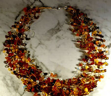 Beads Opal Baltic  Necklace  Amber Yellow Egg,Honey  79gr