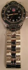 NFL FOOTBALL NEW YORK JETS STAINLESS STEEL WATCH NEW IN WRAPPING FREE SHIPPING!
