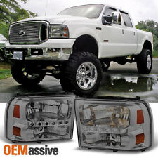Fit 99-04 Ford F250/F350 Superduty 00-05 Excursion Smoke LED Headlights L + R