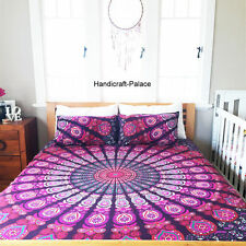 Indian Peacock Mandala Duvet Cover Bedding Set Twin Comforter Set & Pillow Cover