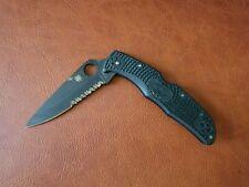 Spyderco Endura 4 FRN Folding Knife Black Blade 020p