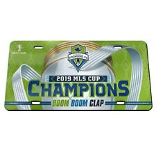 WinCraft Seattle Sounders FC 2019 MLS Cup Champions Laser Cut License Plate