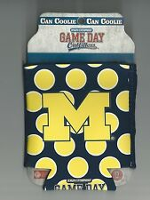 Michigan Wolverines Can Koozie Polka Dot Logo Coolie Keeps Beverages Cold New