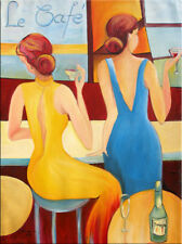 """39"""" - WOMEN PARTY__________ORIGINAL painting by ANNA !!"""