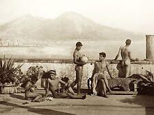 "1895 Photo, Nude Males, Naples, Gloeden, 20""x16"" print, Artistic, vintage view"