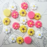 20pcs Cute Resin Sunflower Flower Flatback Scrapbooking DIY Phone /Craft New