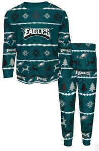 Philadelphia Eagles Youth Boys size Med (10-12) Pajama Set NWT