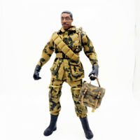 1/6 Scale Uniforms Coveralls Suit woodland camo + backpack 82nd Airborne B005