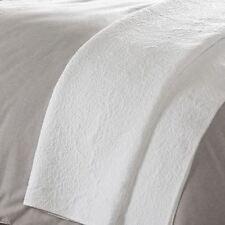 Couvre-lit blanc en 100% coton