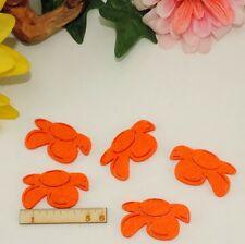 5 orange Blumen Filz 5cm Karten Geschenk Frühling Scrapbooking Kinder Restposten