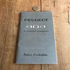 catalogue brochure de voiture N116 peugeot 404
