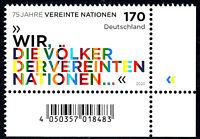 3549 postfrisch Ecke Eckrand rechts unten BRD Bund Deutschland Jahrgang 2020
