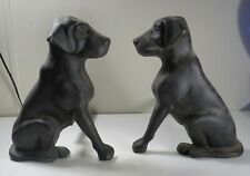 Liberty Foundry Black Labrador Retriever Dog Cast Iron Andirons - Unmarked