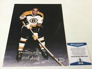 HOF Willie O'Ree Signed Autographed 8x10 Photo Boston Bruins Beckett BAS COA c